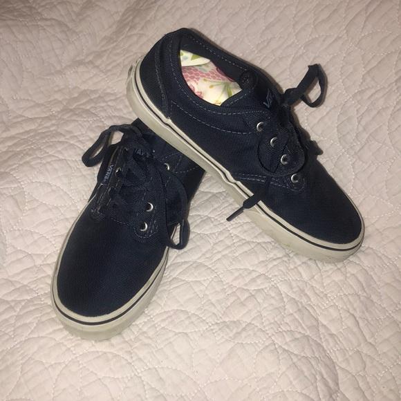 627fe2a431 Canvas Navy Blue Vans Boys Girls VGUC Size 4